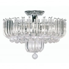 Clear Acrylic 3 Light Ceiling Pendant