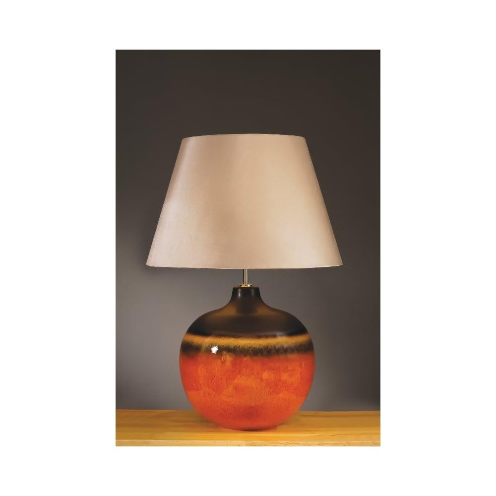 Colorado Dark Brown And Orange Ceramic Large Table Lamp Ideas4lighting Sku12220i4l