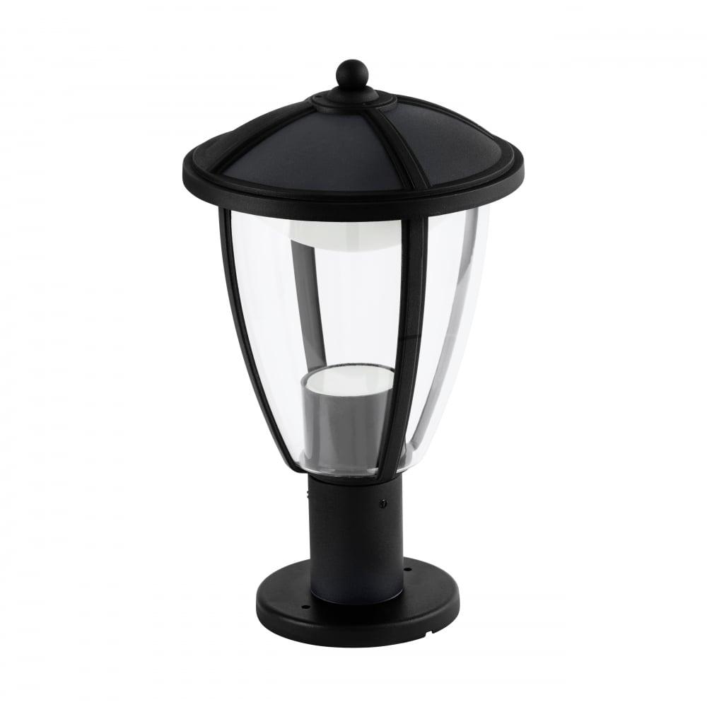 Cheltenham Cast Pedestal Lantern Light Black: Eglo COMUNERO Pedestal Lantern Light