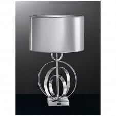 Concentric Chrome Table Lamp