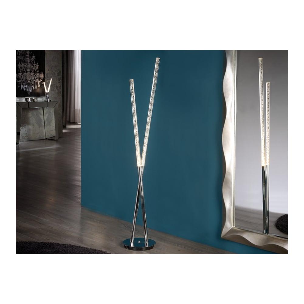Cosmo Modern Led Chrome Floor Lamp