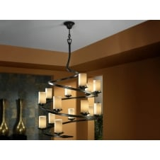 Crisol 14 Candle Light Spiral Ceiling Pendant