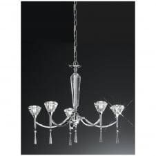 Desian Chrome 5 Light Ceiling Fitting