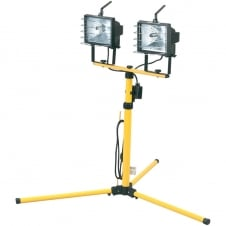Draper Twin 400W Halogen Site Lights 240V and Stand