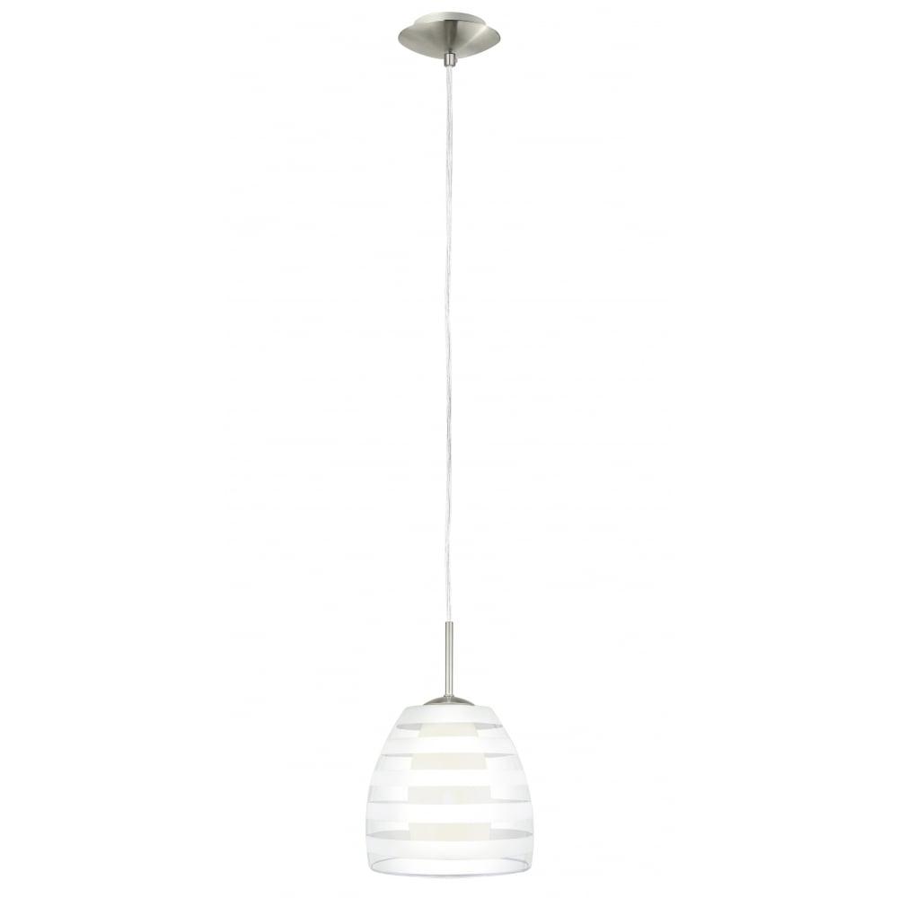 Fargo 1 Light Modern Pendant Ceiling Clear Satined Gl