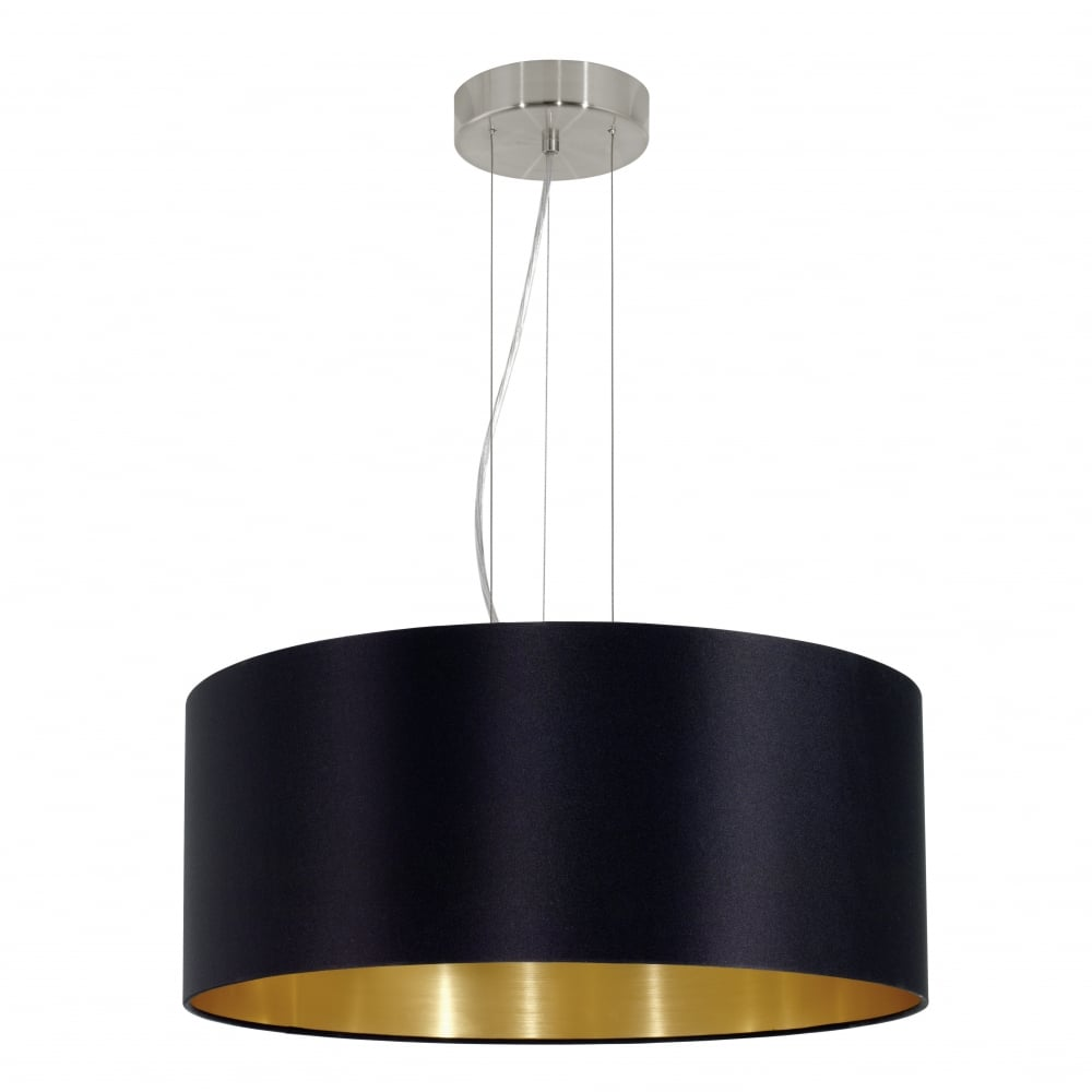 Eglo 31605 MASERLO Modern Black and Gold Shade Ceiling ...