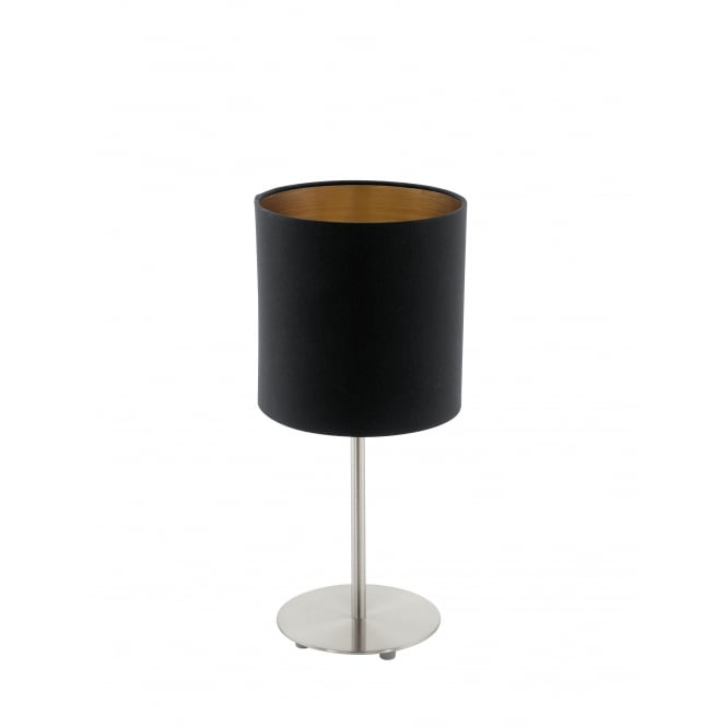 Eglo Pasteri 1 Light Table Lamp Matt Black