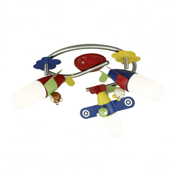 Eglo Siro Ceiling Light Plane Light for Kids Bedroom