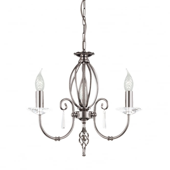Elstead Aegean 3lt Chandelier Polished Nickel