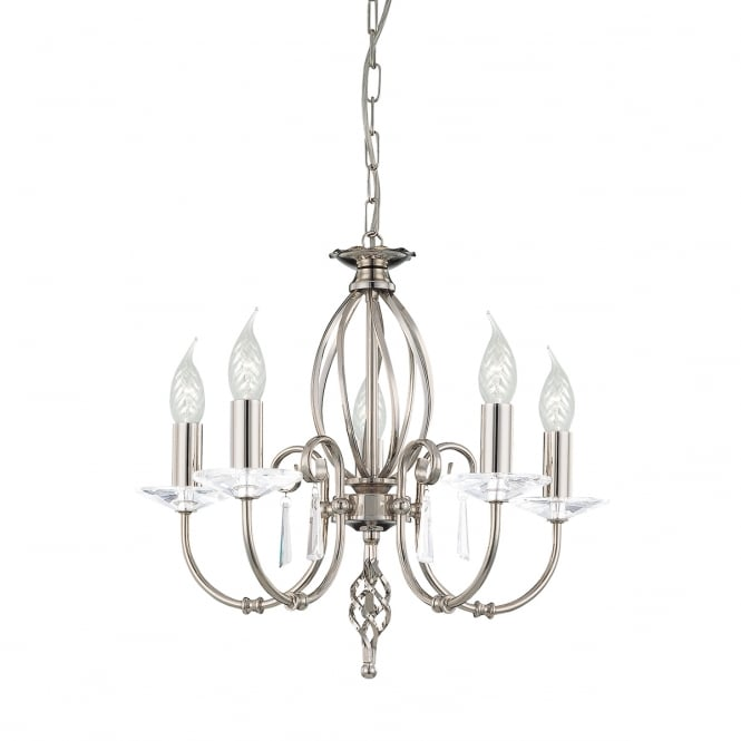 Elstead Aegean 5lt Chandelier Polished Nickel