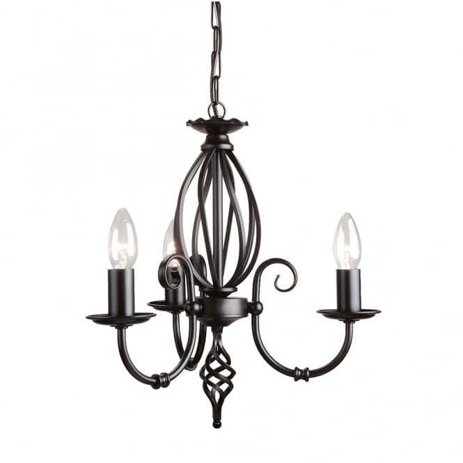 Elstead Artisan 3lt Chandelier Black