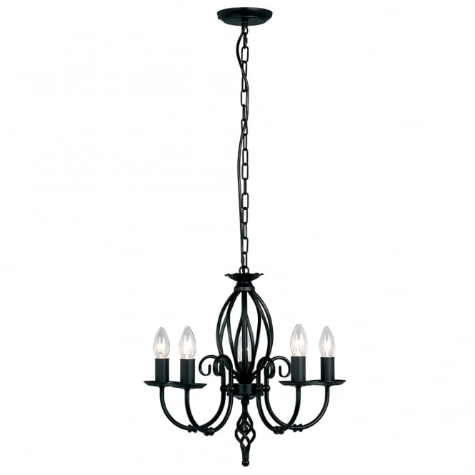 Elstead Artisan 5lt Chandelier Black