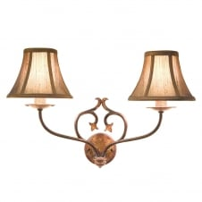 Coniston 2lt Wall Light Burnished Gold