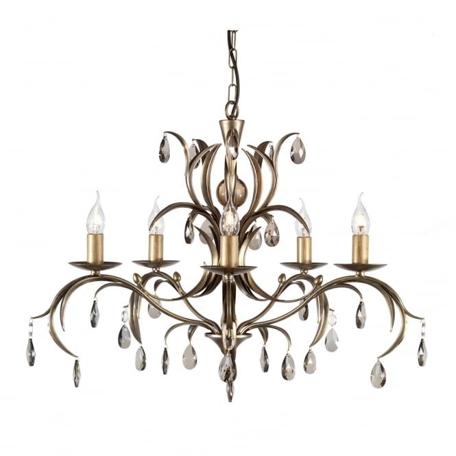 Elstead Lily Antique Flowing Ceiling Light
