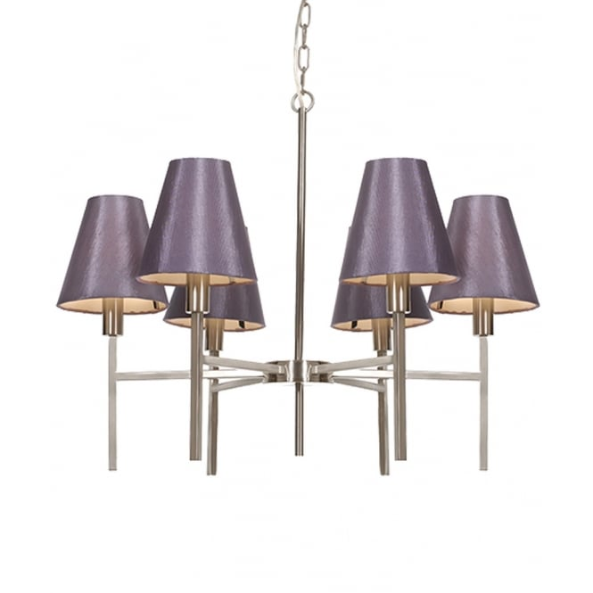 Elstead Lucerne Six Light Chandelier with Shades
