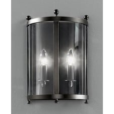 Emberton Antique Bronze Flush 2 Light Wall Lantern