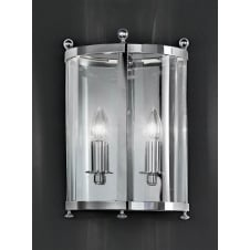 Emberton Chrome 2 Light wall Lantern