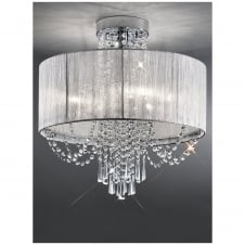 Empress Crystal Diamond Chrome Ceiling Light