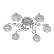 Esmee 6 Light Chrome Semi Flush Fitting