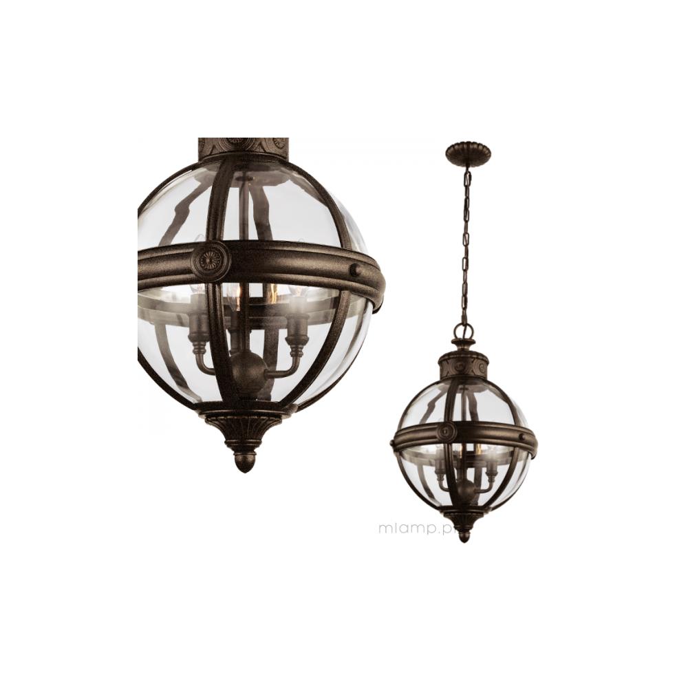 Adams Victorian Bronze Pendant Globe