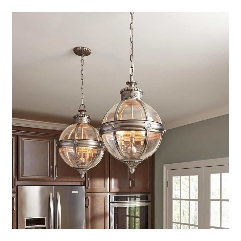 Adams Victorian Pendant Globe Light Chandelier 3 Bulb Ideas4lighting Sku11166i4l