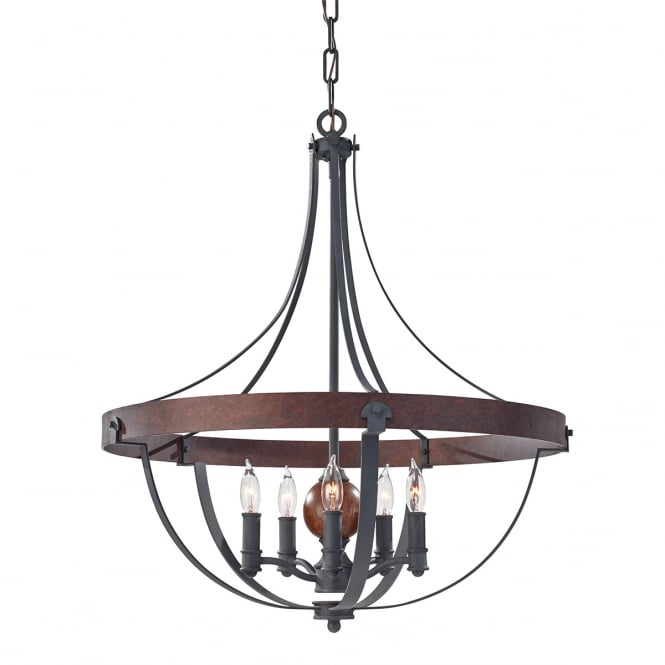 Feiss Alston 5lt Chandelier