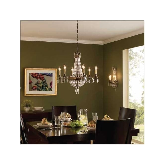 Feiss Bellini 6 Light Crystal Chandelier