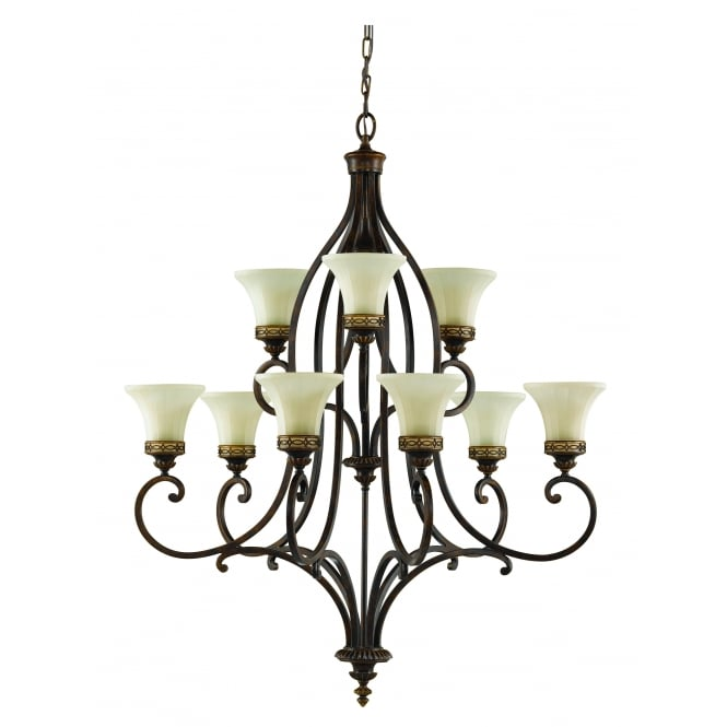 Feiss Drawing Room 9lt Chandelier