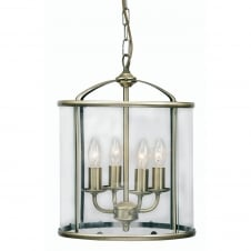 Fern Antique Brass 4 Light Lantern