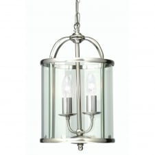 Fern Antique Chrome 2 Light Lantern