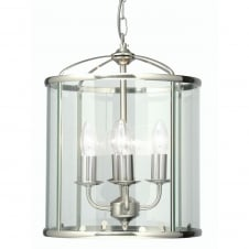 Fern Antique Chrome 4 Light Lantern