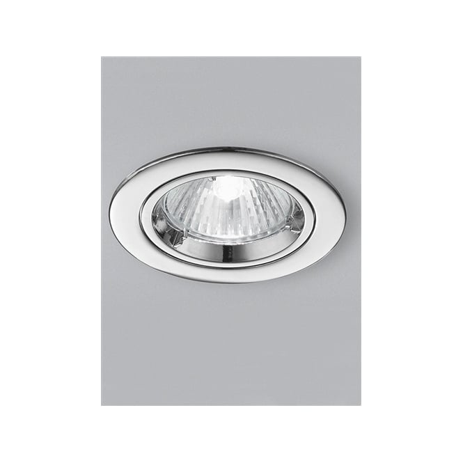 Best Rated Shop Lights: Franklite RF286 LV 50W Fire Rated Chrome Ceiling Downlight