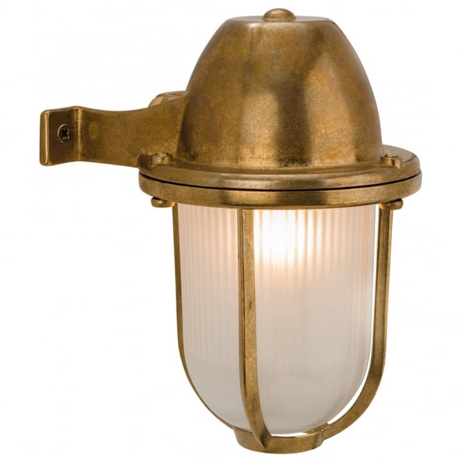 Firstlight Nautic Brass Outdoor Down right Wall Light