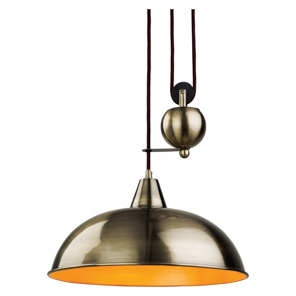 Firstlight Century Antique Brass Rise Fall Ceiling