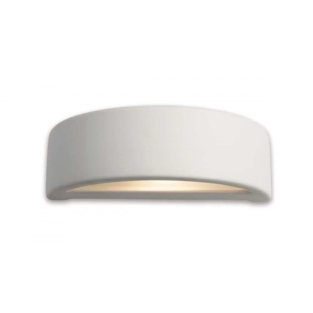 5eac80f68ee9 Firstlight Ceramic Half Ring Wall Light | ideas4lighting | SKU696I4L
