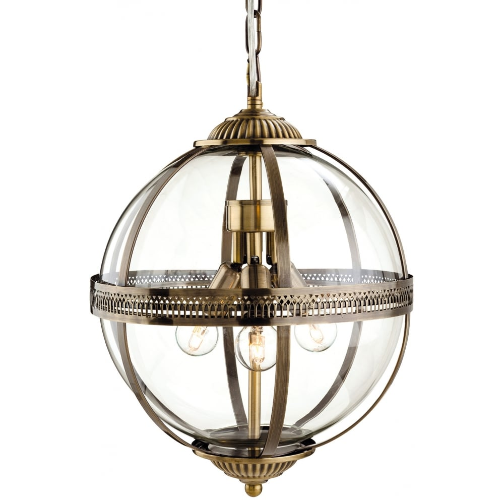 Marvelous Mayfair Bronze Glass Ball Pendant Light