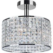 Pearl 4 Light Crystal Bathroom Ceiling Light