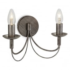 Regency 2 Light Wall Sconce Fitting in Antique Silver