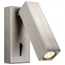 Solo Brushed Nickel LED Wall Light with Switch