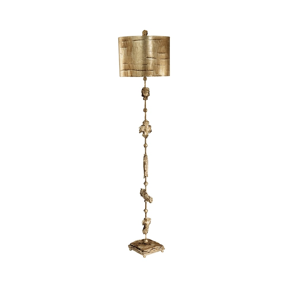 Fragment Gothic Gold Tall Floor Lamp With Sculpture