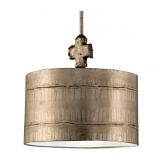 Fragment Gothic Silver Island Drum Shade Pendant Light