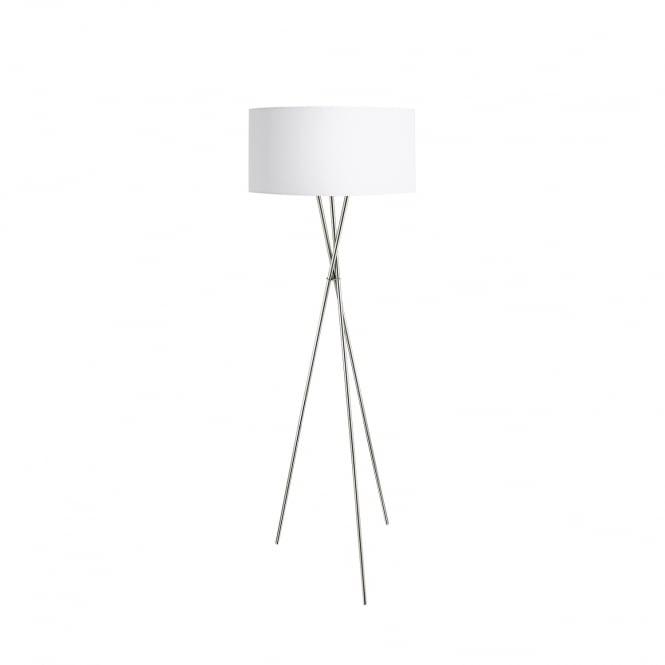 Eglo 95539 Fondachelli Nickel Tripod Floor Lamp With White