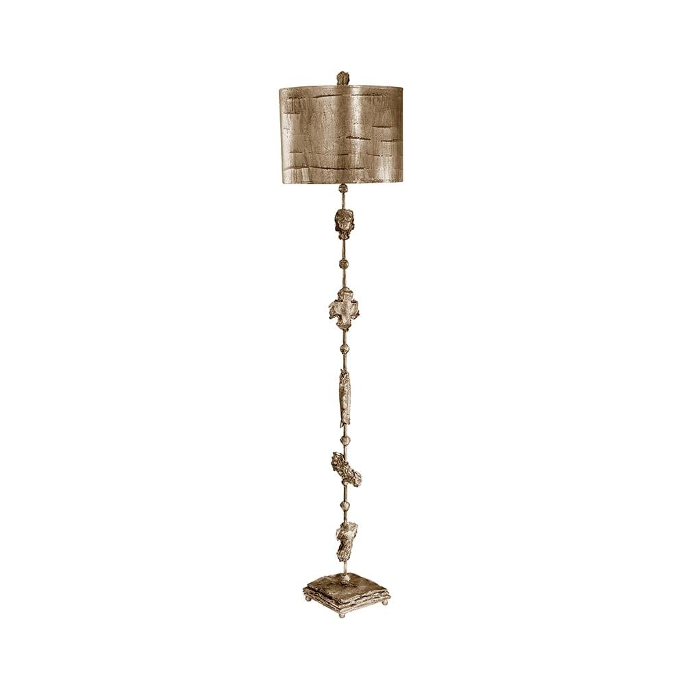 Fragment silver floor lamp ideas4lighting sku11130i4l fragment gothic silver tall floor lamp with sculpture mozeypictures Images