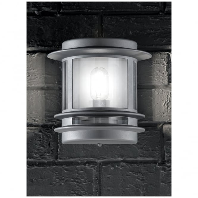 Franklite Barbican Silver Outdoor Flush Wall Light IP44