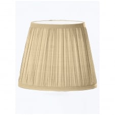 Beige Pleated Silk Candle Shade