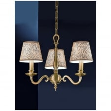 Cantabria Satin Brass 3 Light Ceiling Fitting