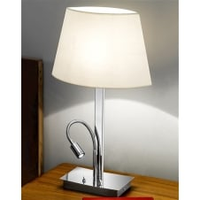 Chrome Table Lamp with LED Reading Light