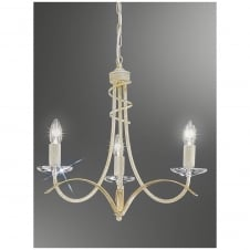 Fusion Cream and Gold 3 Light Fitting