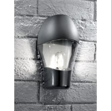 Lorenz Black Exterior Flush Wall Fitting