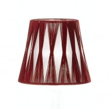 Silver/Red String Candle Shade